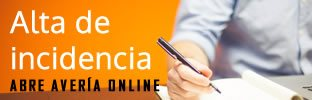 Alta de incidencia online